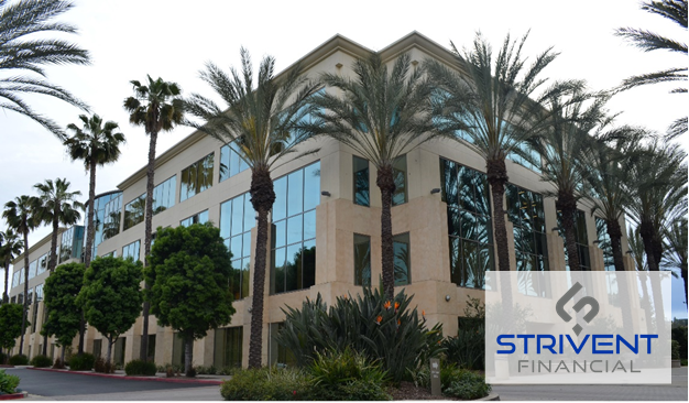 Strivent Financial Office Building with Logo